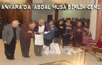 ANKARA\'DA ABDAL MUSA BİRLİK CEMİ YAPILDI