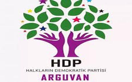 HDP ARGUVAN İLÇE KONGRESİ YAPILDI