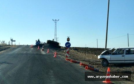 Arguvan Urunun Düzünde Trafik Kazası: 2 Yaralı