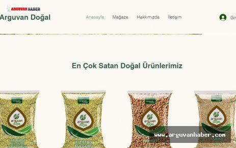 ARGUVAN DOĞAL ÜRÜNLERİ ŞATIŞI WEB SİTESİ YAYINDA