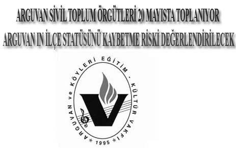 ARGUVAN SİVİL TOPLUM ÖRGÜTLERİ 20 MAYISTA TOPLANIYOR