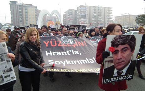 HRANT DİNK MALATYA'DA ANILDI