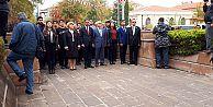 MALATYA CHP CUMHURİYETİN 94 YILDÖNÜMÜNDE ATATÜRK ANITINA ÇELENK SUNDU