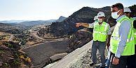 Malatya Valisi Aydın Baruş, Yoncalı Barajında incelemelerde bulundu