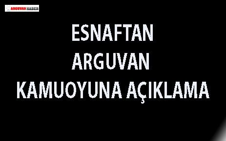 ARGUVANLI DEMİRCİ ESNAFINDAN KAMUOYUNA AÇIKLAMA