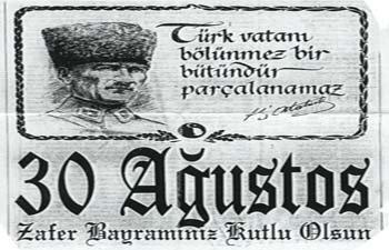 30AĞUSTOS'UN 88. YILDÖNÜMÜ