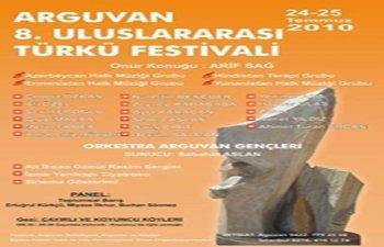 ARGUVAN 8.ULUSLARARASI TÜRKÜ FESTİVALİ PROGRAMI