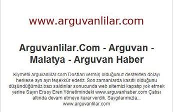 ARGUVANLILAR.COM WEB SİTESİ YAYININI DURDURMA KARARI ALDI