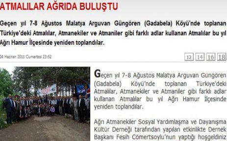 ATMALILARIN AĞRI  BULUŞMASI TÜRKİYEM TV' DE YAYINLANACAK