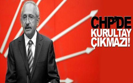 CHP'DE KURULTAY GÜNDEMDE YOK