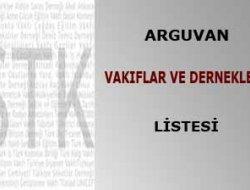 ARGUVAN VAKIFLAR VE DERNEKLER LİSTESİ