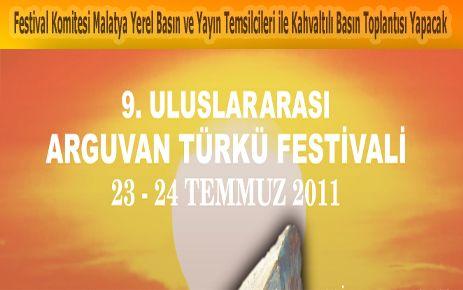 FESTİVAL KOMİTESİ MALATYADA BASIN TOPLANTISI YAPACAK