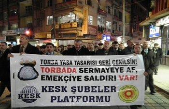 MALATYADA TORBA YASASI PROTESTO EDİLDİ