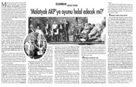 MALAYALI AKP'YE OYUNU HELAL EDECEKMİ ?