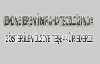 ERSOY EREN'DEN TEŞEKKÜR YAZISI